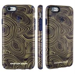 Чехол-накладка Speck CandyShell Inked для iPhone 6/6s - JONATHAN ADLER Edition Malachite Black Gold/Berry Black Purple - фото 10130