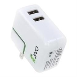 Сетевое зарядное устройство Jivo World Travel Charger 4 в 1. 2USB: 0.5+1.2А - фото 10870