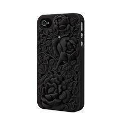 Чехол-накладка SwitchEasy Avant-garde Blossom для iPhone4/4S (SW-BLO4S-BK) - фото 11745