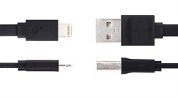 Кабель iHave Charge & Sync Lightning-USB Flat для iPhone/ iPad 90cм (ib0490) - фото 12826