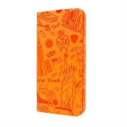 Чехол-книжка Ozaki O!Coat Travel New York case для iPhone 6/6s plus (OC585NY) - фото 12944