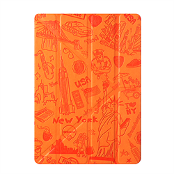 "Чехол-книжка Ozaki O!Coat Travel New-York Multi-angel Сase для iPad 9.7"" (2017/2018)/ iPad Air (OC111NY) - фото 13376"