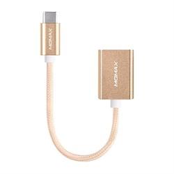 Адаптер-переходник OTG Momax Type-c/USB Elite link (Цвет: Золотой) - фото 14797