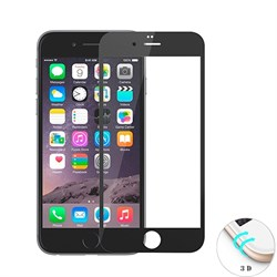 Защитное стекло Ainy Tempered Glass 3D для iPhone 6/6s на весь экран с закруглением (Цвет: Черный, толщина 0.33 мм) - фото 14903