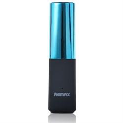 Внешний аккумулятор Remax Lipstick 2400 мАч RPL-12BL (Цвет: Голубой) - фото 15171