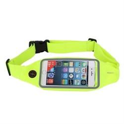 Сумка поясная для спорта Rock Universal Running Belt для смартфона (Цвет: Зелёный) - фото 15247