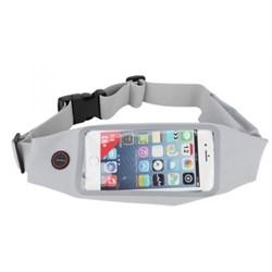 Сумка поясная для спорта Rock Universal Running Belt для смартфона (Цвет: Серый) - фото 15256
