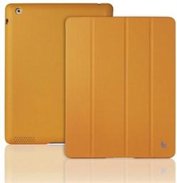 Чехол-книжка Jisoncase Executive Кожа для Apple iPad 2/3/4 (Цвет: Оранжевый) - фото 15434