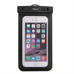 Влагозащищенный чехол Rock Waterproof Bag для смартфона универсальный (цвет: Черный) - фото 15563