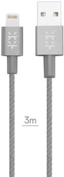 Кабель Mixberry Lightning-USB superlong (Цвет: Тёмно-серый) - фото 15730