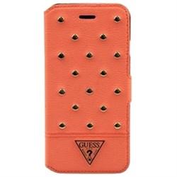 Чехол-книжка Guess для iPhone 6/6s Tessi Booktype Coral (Цвет: Розовый) - фото 15876