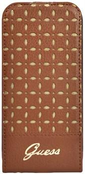 Чехол-книжка Guess для iPhone 6/6s plus Gianina Booktype Cognac (Цвет: Коричневый) - фото 15924