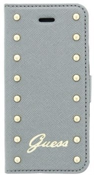 Чехол-книжка Guess для iPhone 6/6s plus Studded Booktype Silver (Цвет: Серый) - фото 15930