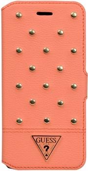 Чехол-книжка Guess для iPhone 6/6s plus Tessi Booktype Coral (Цвет: Розовый) - фото 15957