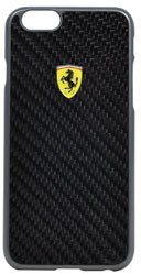 Чехол-накладка Ferrari для iPhone 6/6s Formula One Hard Real Carb Bk (Цвет: Чёрный) - фото 16137