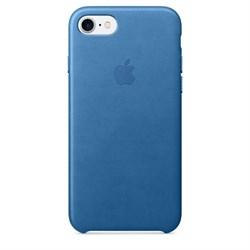 Оригинальный кожаный чехол-накладка Apple для iPhone 7/8, цвет «синее море»  (MMY42ZM/A) - фото 16253