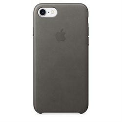 Оригинальный кожаный чехол-накладка Apple для iPhone 7/8, цвет «грозовое небо» (MMY12ZM/A) - фото 16275