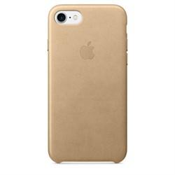 Оригинальный кожаный чехол-накладка Apple для iPhone 7/8, цвет «миндальный» (MMY72ZM/A) - фото 16289