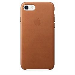 Оригинальный кожаный чехол-накладка Apple для iPhone 7/8, цвет «золотисто-коричневый» (MMY22ZM/A) - фото 16302