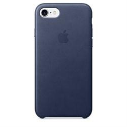 Оригинальный кожаный чехол-накладка Apple для iPhone 7/8, цвет «темно-синий» (MMY32ZM/A) - фото 16316