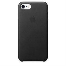 Оригинальный кожаный чехол-накладка Apple для iPhone 7/8, цвет «черный» (MMY52ZM/A) - фото 16331