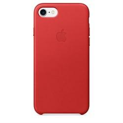 Оригинальный кожаный чехол-накладка Apple для iPhone 7/8, цвет «красный» (MMY62ZM/A) - фото 16344