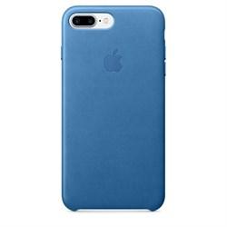Оригинальный кожаный чехол-накладка Apple для iPhone 7 Plus/8 Plus, цвет «синее море» (MMYH2ZM/A) - фото 16368
