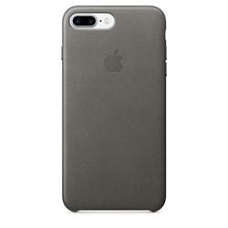 Оригинальный кожаный чехол-накладка Apple для iPhone 7 Plus/8 Plus, цвет «грозовое небо» (MMYE2ZM/A) - фото 16396