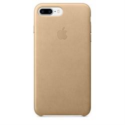 Оригинальный кожаный чехол-накладка Apple для iPhone 7 Plus/8 Plus, цвет «миндальный» (MMYL2ZM/A) - фото 16410
