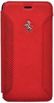 Чехол-накладка Ferrari для iPhone 6/6s plus F12 Booktype Red (Цвет: Красный) - фото 16433