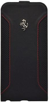 Чехол-флип Ferrari для iPhone 6/6s plus F12 Flip Black (Цвет: Чёрный) - фото 16440