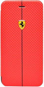 Чехол-книжка Ferrari для iPhone 6/6s plus Formula One Booktype Red (Цвет: Красный) - фото 16476