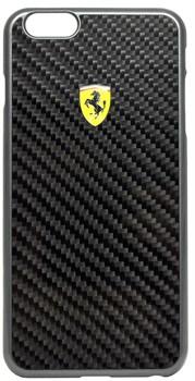 Чехол-накладка Ferrari для iPhone 6/6s plus Formula One Hard Real Crb Bk (Цвет: Чёрный) - фото 16489