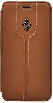 Чехол-книжка Ferrari для iPhone 6/6s plus Montecarlo Booktype Camel (Цвет: Коричневый) - фото 16504