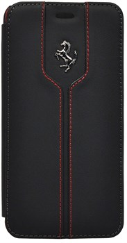 Чехол-флип Ferrari для iPhone 6/6s plus Montecarlo Flip Black (Цвет: Чёрный) - фото 16520