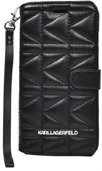 Чехол-книжка Karl Lagerfeld для iPhone 6/6s plus Kuilted Booktype Black (Цвет: Чёрный) - фото 16584