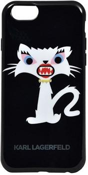 Чехол-накладка Karl Lagerfeld для iPhone 6/6s plus Monster Choupette Hard Black (Цвет: Чёрный) - фото 16593