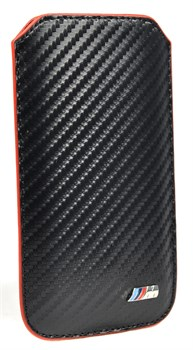 Чехол-карман BMW для iPhone 5/5s M-collection Sleeve Carbon effect (Цвет: Чёрный) - фото 16663