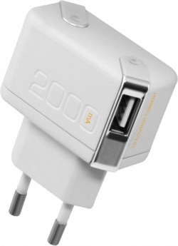 Сетевой адаптер Unplug Dual USB 2А (Цвет: Белый) - фото 16809
