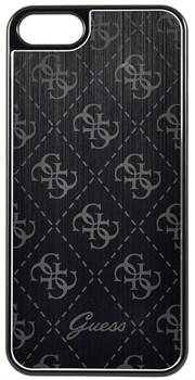 Чехол-накладка Guess Aluminium Plate для iPhone 5/5s/SE Hard Black (Цвет: Чёрный) (GUHCPSEMEBK) - фото 16965