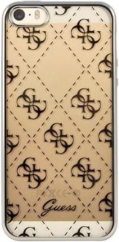 Чехол-накладка Guess для iPhone SE/5S 4G TRANSPARENT Hard TPU Silver (Цвет: Серый) - фото 16983