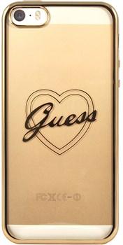 Чехол-накладка Guess для iPhone SE/5S SIGNATURE HEART Hard TPU Gold (Цвет: Золотой) - фото 16989