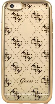 Чехол Guess для iPhone 6S 4G TRANSPARENT Hard TPU Gold (Цвет: Золотой) - фото 17019