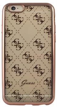 Чехол-накладка Guess для iPhone 6S 4G TRANSPARENT Hard TPU Rose gold (Цвет: Розовое золото) - фото 17027