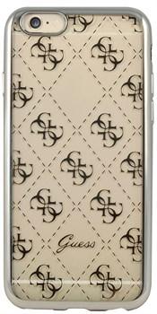 Чехол-накладка Guess для iPhone 6S 4G TRANSPARENT Hard TPU Silver (Цвет: Серый) - фото 17033