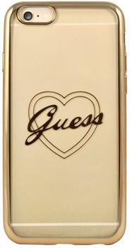 Чехол-накладка Guess для iPhone 6/6S SIGNATURE HEART Hard TPU Gold (Цвет: Золотой) - фото 17061