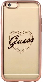 Чехол-накладка Guess для iPhone 6/6S SIGNATURE HEART Hard TPU Rose gold (Цвет: Розовое золото) - фото 17067