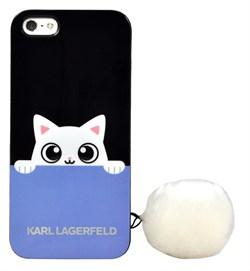 Чехол-накладка Lagerfeld для iPhone SE/5S K-Peek A Boo Hard TPU Blue/Black (Цвет: Голубой/Чёрный) - фото 17079