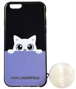 Чехол-накладка Lagerfeld для iPhone 6/6S K-Peek A Boo Hard TPU Blue/Black (Цвет: Голубой/Чёрный) - фото 17096