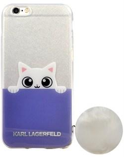 Чехол-накладка Lagerfeld для iPhone 6S K-Peek A Boo Hard Transparent TPU Blue/White (Цвет: Голубой/Белый) - фото 17109
